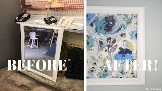 Framed Fabric Wall Art Using a Picture Frame: DIY Wall Art - Thrift Diving Video