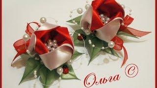 Tulipas de fita de cetim por Grushenkova Olga