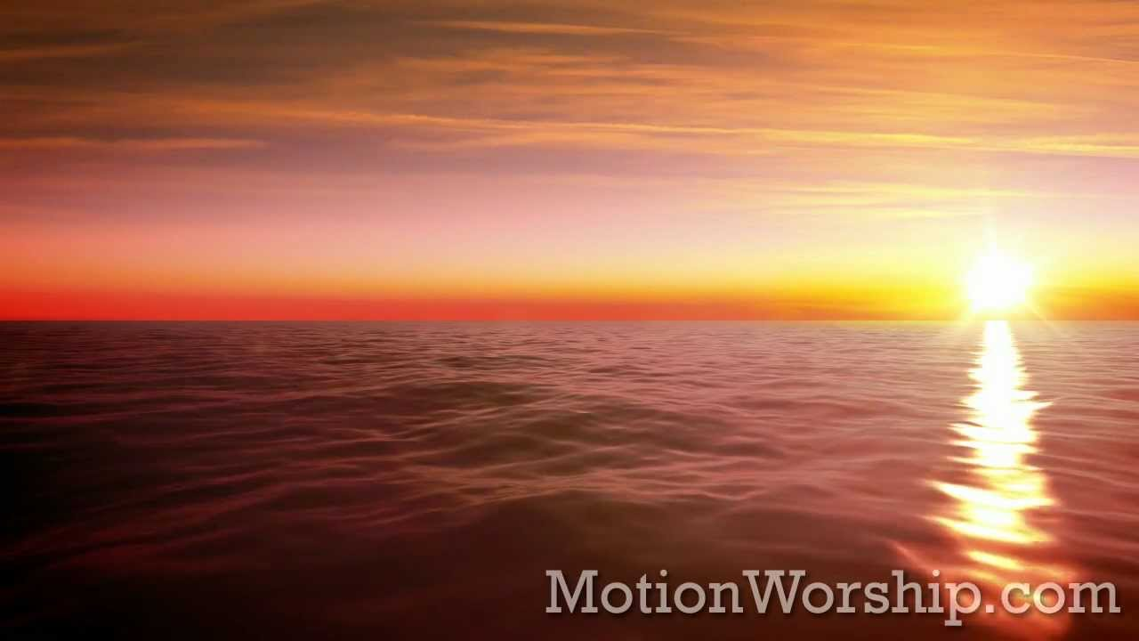 ocean horizon sunset seamless loop by motion worship