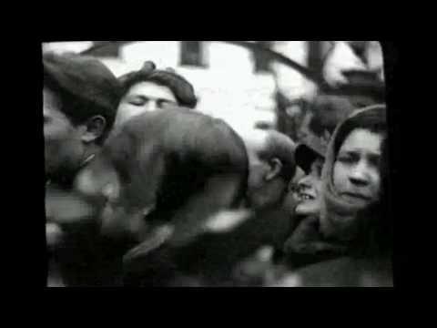 Кадры кинохроники похорон Сергея Есенина.