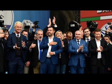 قادة اليمين المتطرف في أوروبا يحشدون في ميلانو ويتعهدون بإعادة تشكيل القارة…  - 14:54-2019 / 5 / 19
