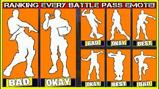 RANKING EVERY BATTLE PASS EMOTE FROM WORST TO BEST! (Fortnite Battle Royale!)