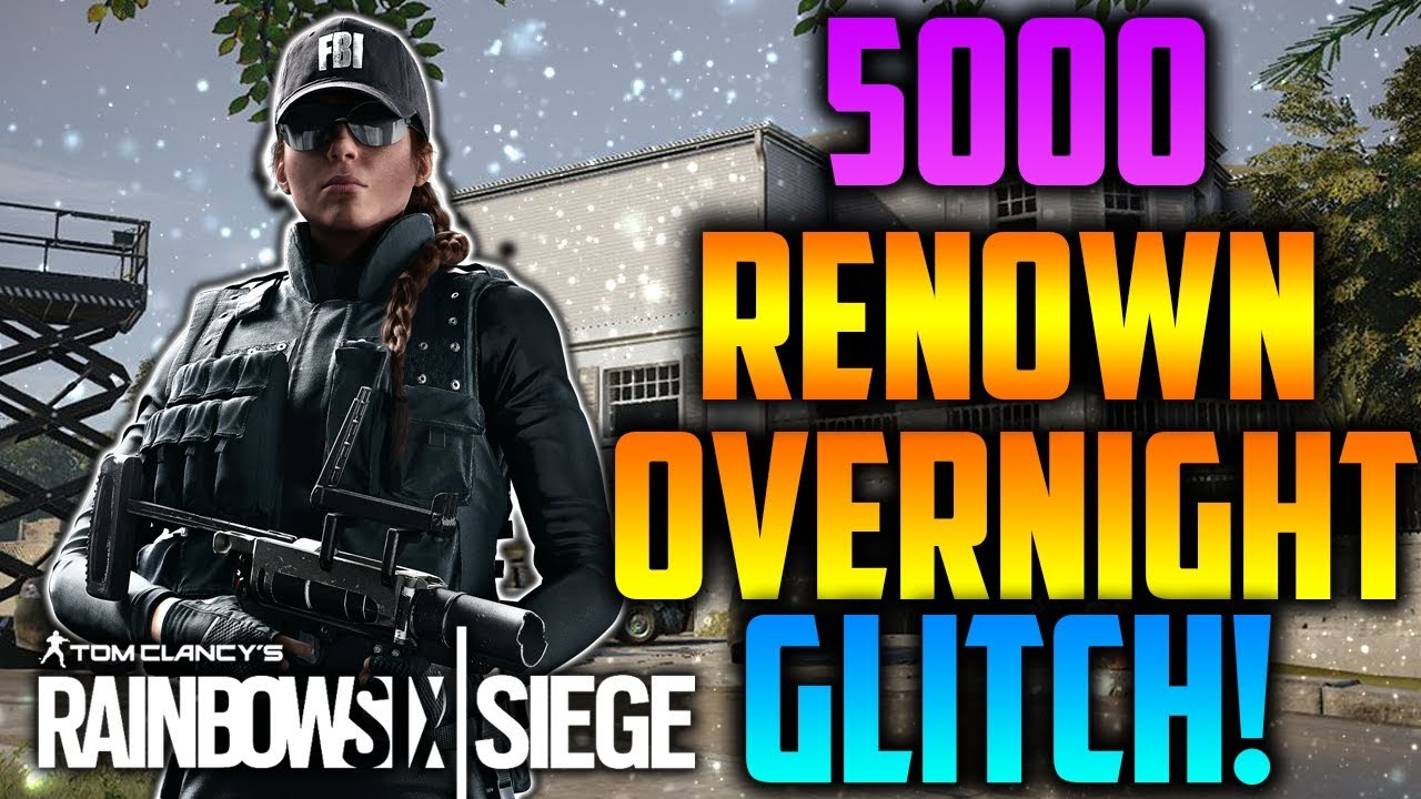 *NEW* Unlimited Renown Booster! - Rainbow Six Siege - YouTube