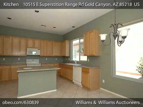 AUCTIONED! Arizona Real Estate Auction: Gold Canyon 4BR Home with 2,580+/-sf