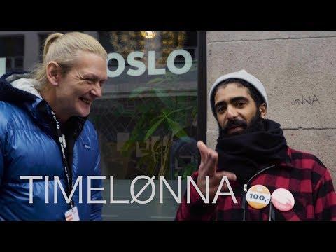 Hvor mye tjener en =Oslo-selger i timen?