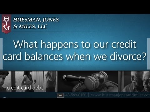 Who Is Responsible For Credit Card Debt In Divorce