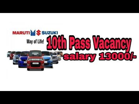 10th &12th Pass out Vacancy in Maruti Suzuki India Ltd