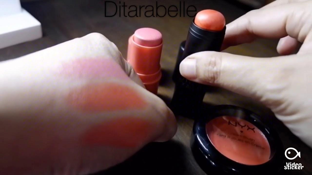 Nyx Stick And Cream Blush Vs Focallure Stick Blush Youtube