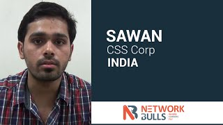 sawan got job placement in css corp after completing ccie security course from network bulls