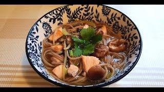Азиатская кухня.Суп с рыбкой и Гречневой лапшой