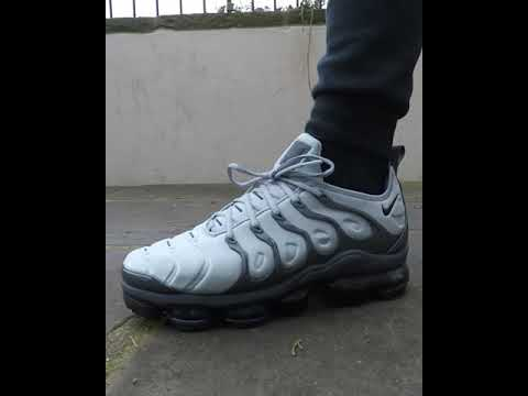 brand new 3498c 42d0e Nike Mens Vapormax Plus Wolf Grey On Feet