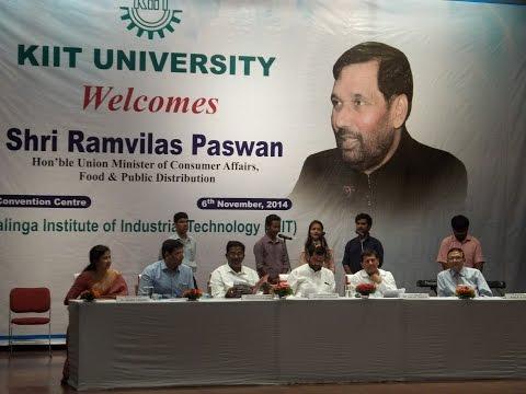 Shri Ramvilas Paswan at KIIT University
