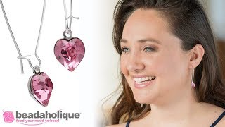 How to Set a Swarovski Crystal Heart Fancy Stone and Make a Pair of Earrings