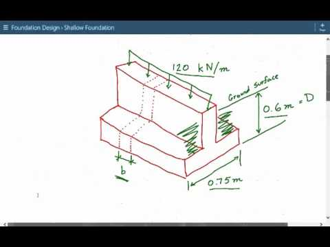 Structural foundation engineering design & analysis for shallow continuous footing Example 2