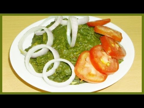 Aloo Palak /  Alu Palak / Potato Spinach Curry Recipe - Indian Vegetarian Curry