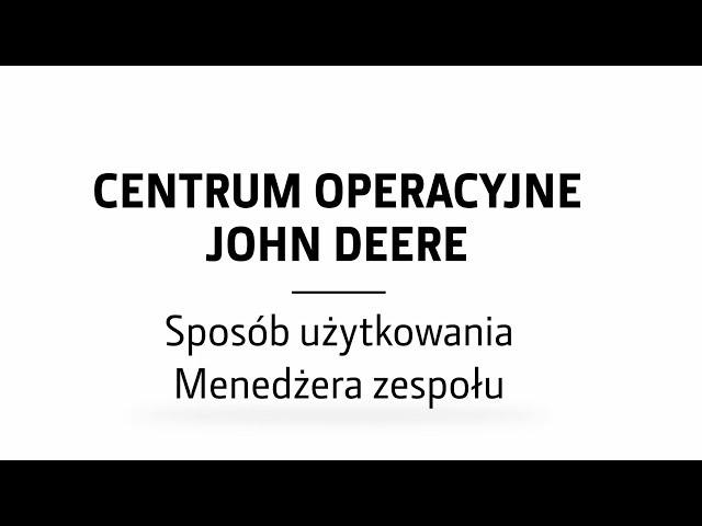 Menedżer zespołu w Centrum Operacyjnym | John Deere