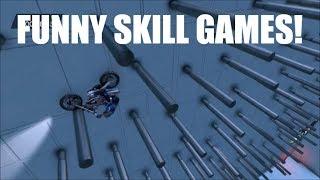 trials fusion custom map fun #2: Funny skill games, 8 ball and flight simulator!