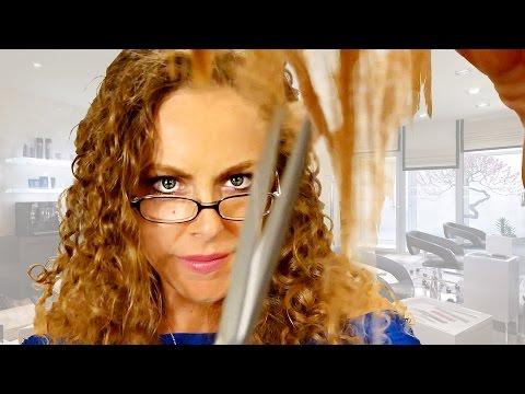 ASMR Haircut No Talking Role Play w/ Binaural Scissor Sounds & Real Hair