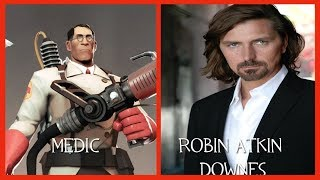 Characters and Voice Actors - Team Fortress 2