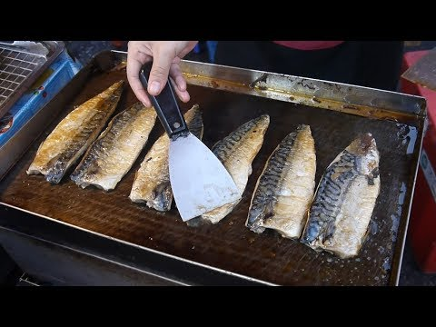Japanese Street Food | Grilled Salmon Or Saba Fish Rice