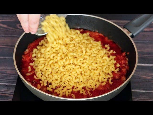 Макароны больше не варю, а готовлю только так! Быстрый ужин в одной сковороде за 30 минут.