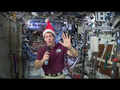 (French) Thomas Pesquet's space Christmas message