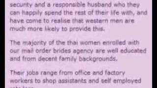 Thai Brides and the Marriage Agency Rip-off Scam