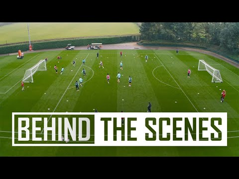 Crisp finish and great stops |  Inside Arsenal Training - drone and 360 camera special!