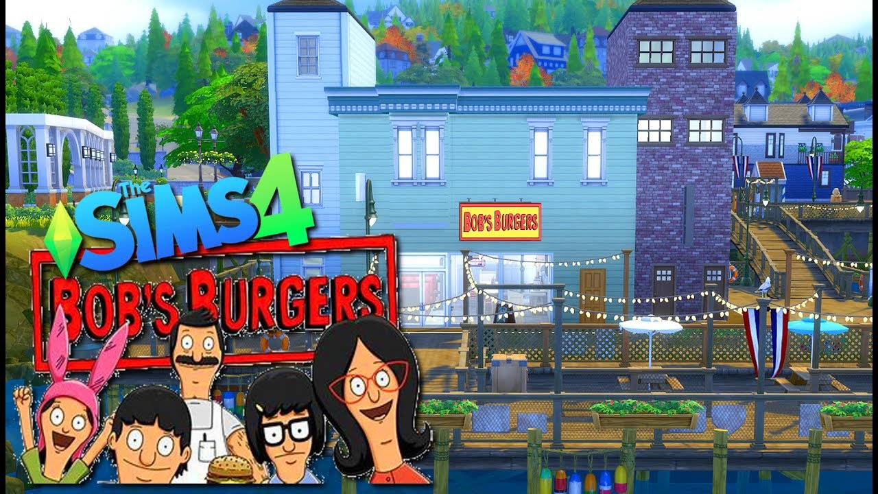 The Sims 4 Bob S Burgers Speed Build Youtube