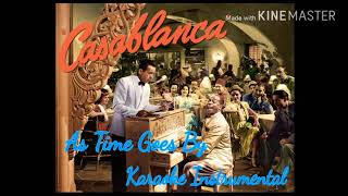 """As time goes by: karaoke version from """"casablanca"""" with lyrics in description"""