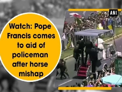 Watch: Pope Francis comes to aid of policeman after horse mishap - Chile News
