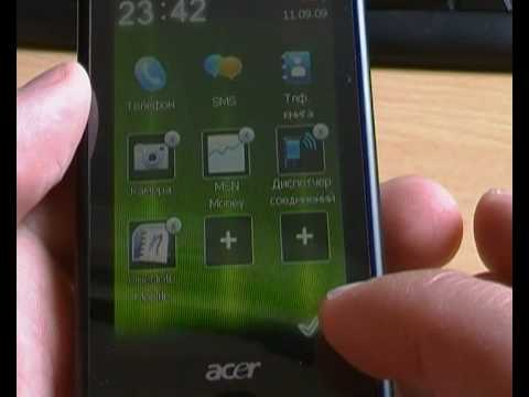 Acer be Touch E101_Виджеты.MP4