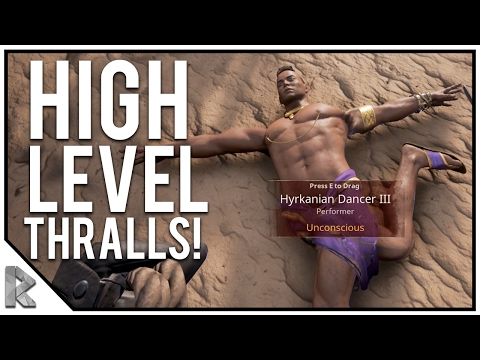 Capturing High Level Thralls & NEW Base Location!  Conan Exiles Gameplay 19