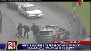 Balacera en la Vía Expresa: difunden nuevas imágenes de persecución a 'marcas'