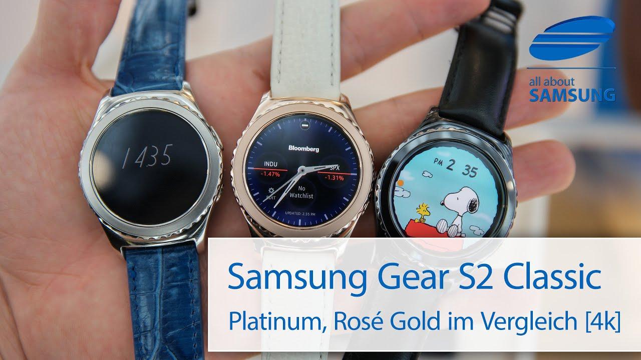 Samsung Gear S2 Classic Farben im Vergleich