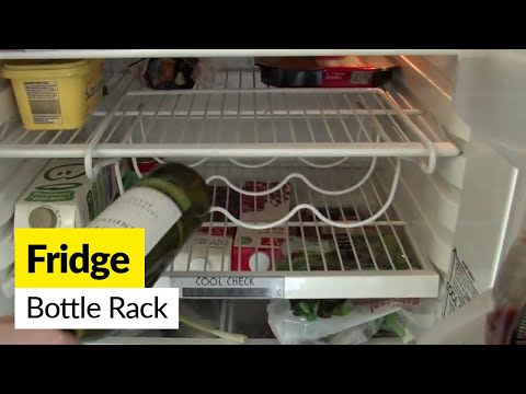 Space Saver Fridge Wine Bottle Rack