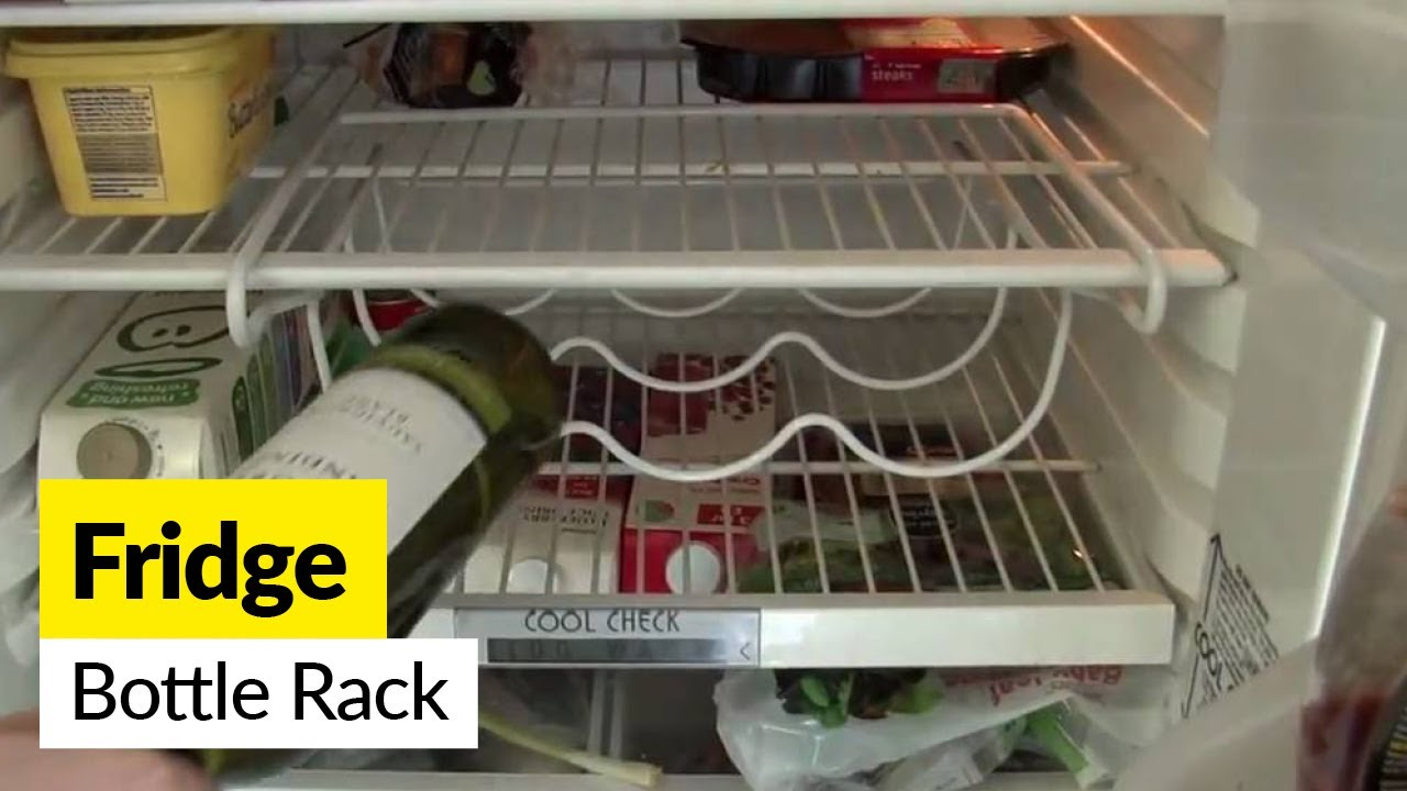 Space Saver Fridge Wine Bottle Rack Youtube