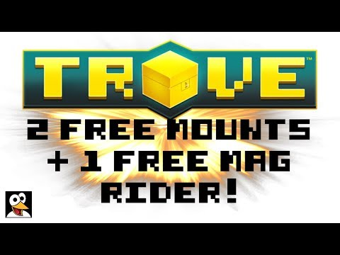 2 FREE MOUNTS + 1 FREE MAG RIDER!   Trove Never Ending Codes!