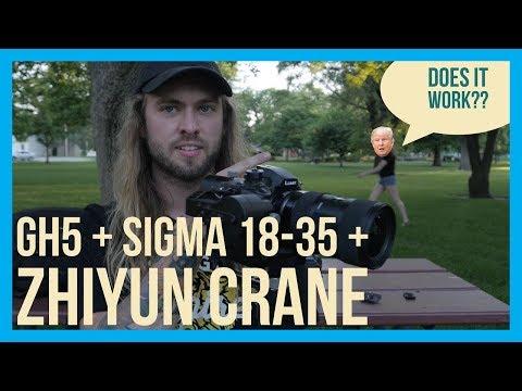 Panasonic GH5, Sigma 18-35, Zhiyun Crane // Does it work??