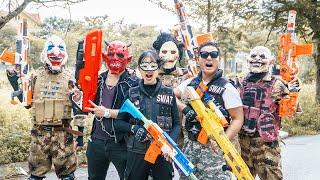 LTT Films : Warriors Black Man Nerf Guns Fight Criminal Group Tiger Mask Robbery Of Arms Dealers