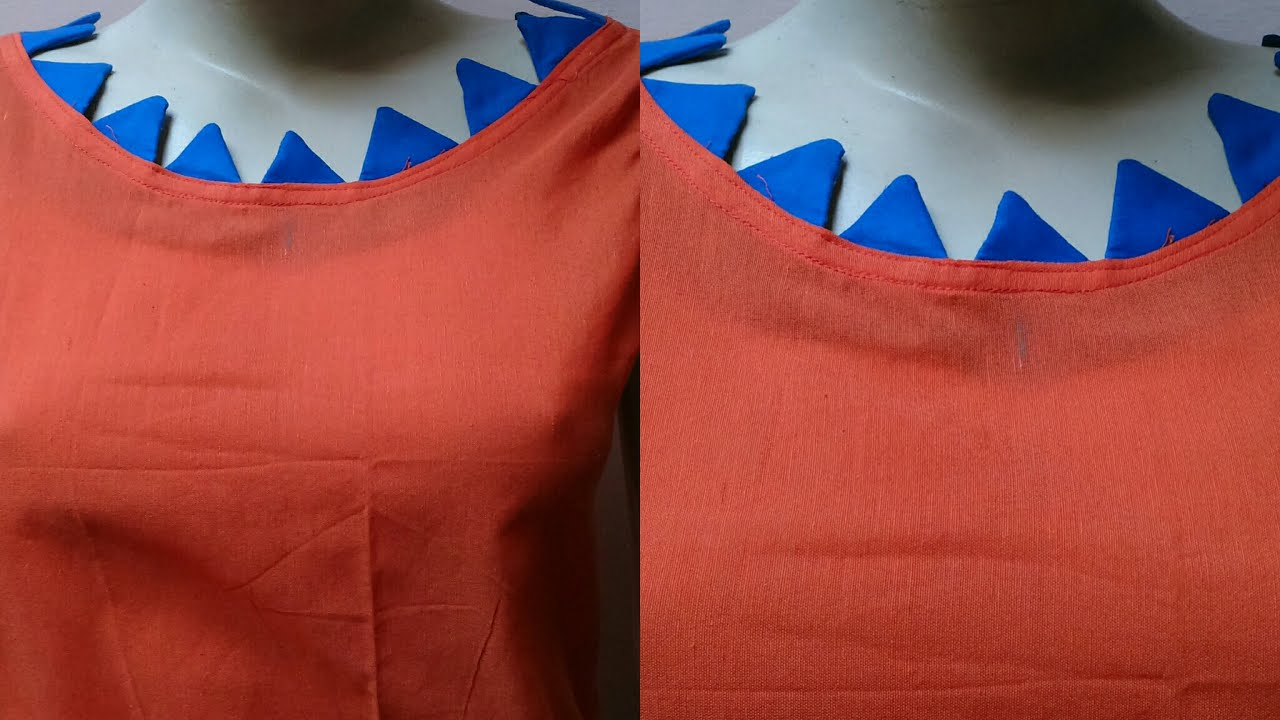 Designer Boat Neck Design For Kurti Blouse Cutting And Stitching