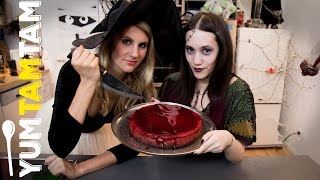 Halloween-Kuchen // Bloody Cheesecake // #yumtamtam