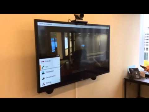 Conference room 1521 video set up