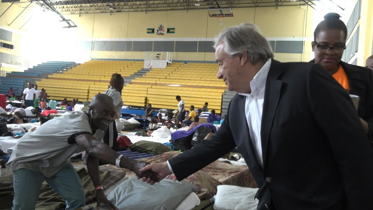 Visiting Bahamas, UN chief calls for climate action