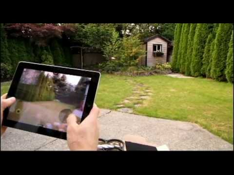 Parrot AR.Drone iPad Controlled Remote Control Aircraft Test Flight Demo Linus Tech Tips