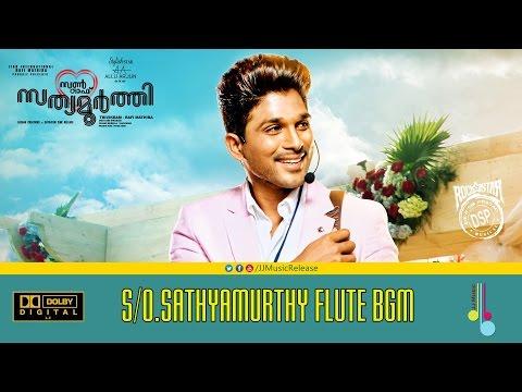 S/o.SathyaMurthy BGM - ( Malayalam ) | Flute Bgm | Climax Bgm | AlluArjun,DeviSriPrasad