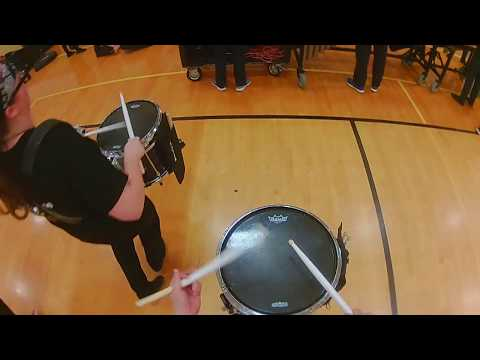 Mountain View Winter Drumline 2018 - Snare Cam (Finals Day)