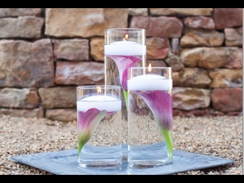 Submerged Calla Lily Wedding Centerpieces - YouTube