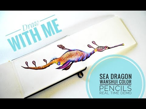 Sea Dragon Demo With Wanshui Color Pencils.