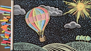 Let's Draw... a Balloon! ♫ 4 Hours of Soothing Music & Chalk Art